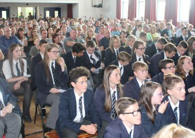 Hall packed for Awards Evening