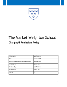 Charging and Remissions Policy Review Spring 2023