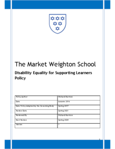 Disability Equality Scheme Policy Review Spring 2024
