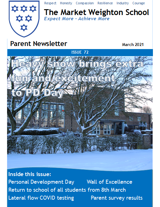 Newsletter – March 2021
