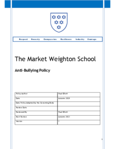 Anti-Bullying Policy Review Autumn 2023