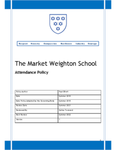 Attendance policy September Review Summer 2022