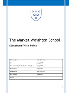 Educational Visits Policy Review Spring 2023